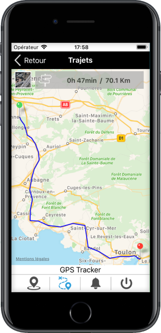 application mobile de géolocalisation